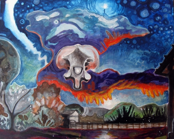 "Bone Setting 2013 Acrylic on Canvas 16""x20"""