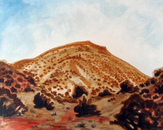 """Sacred Mountain 2013 Acrylic on Canvas 16""""x20"""""""