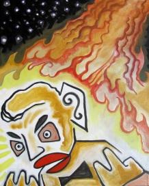 "Mr. Solo Zozo 2013 Acrylic on Canvas 20""x16"""
