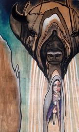 """Tu Sabe 2013 Acrylic on Plywood 60""""x36"""""""