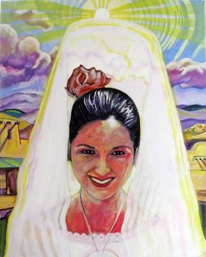 "La Reina 2013 Acrylic on Canvas 20""x16"""