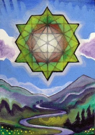 """The Heart of the Sunrise 2013 Acylic on Canvas 8""""x10"""""""