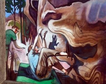 "Grasshopper Canyon 2013 Mixed Media on Plywood 36""x48"""