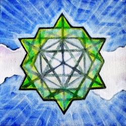 """Tantric Terra Prana 2014 Acrylic on Canvas 5""""x5"""""""