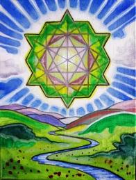"""Tantric Terra Prana 2014 Acrylic on Canvas 12""""x9"""""""