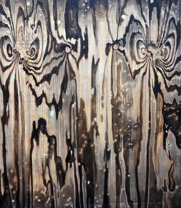 "Plywood One 2016 Acrylic on Plywood 33.5x29.75"""
